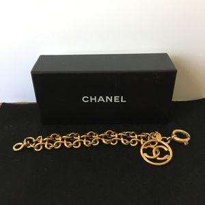 CHANEL 1993 GOLD CC PENDANT BRACELET